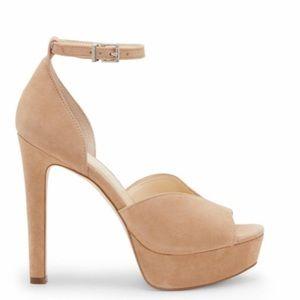 Jessica Simpson Sand Suede BRIYA Platform Heels